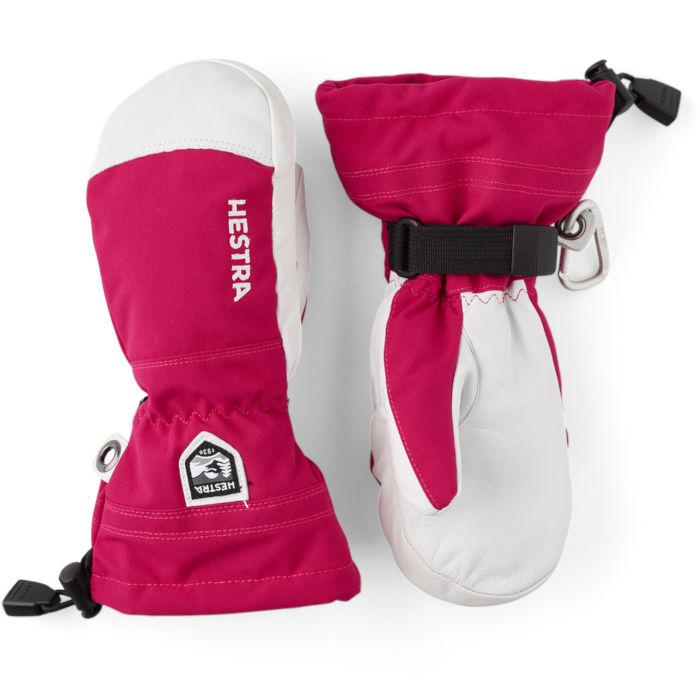 Hestra Heli Ski Jr mitt Pink